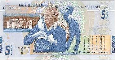 Jack                   Nicklaus £5 note