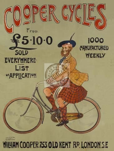 coopers cycles sign